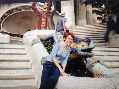 Yo en el Parque Montjüic, Barcelona. 2001.
